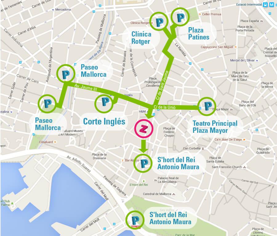 mapa accesos clinica